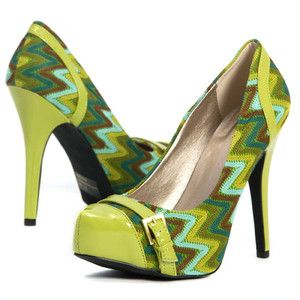 3ca780417f lime green fashion | Hot-Fashion-Lime-Green-High-Heel-Buckle-Stilettos-Woven -Platform-Pumps .
