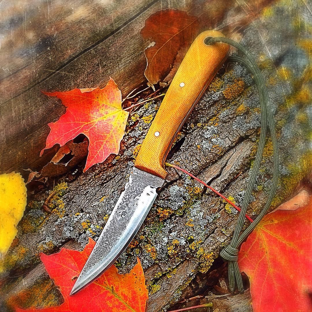 Forged, quenched, tempered and sharpened.  Born to be a woodsman companion.