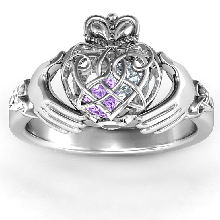 Caged Hearts Celtic Claddagh Ring in 2020 Celtic wedding