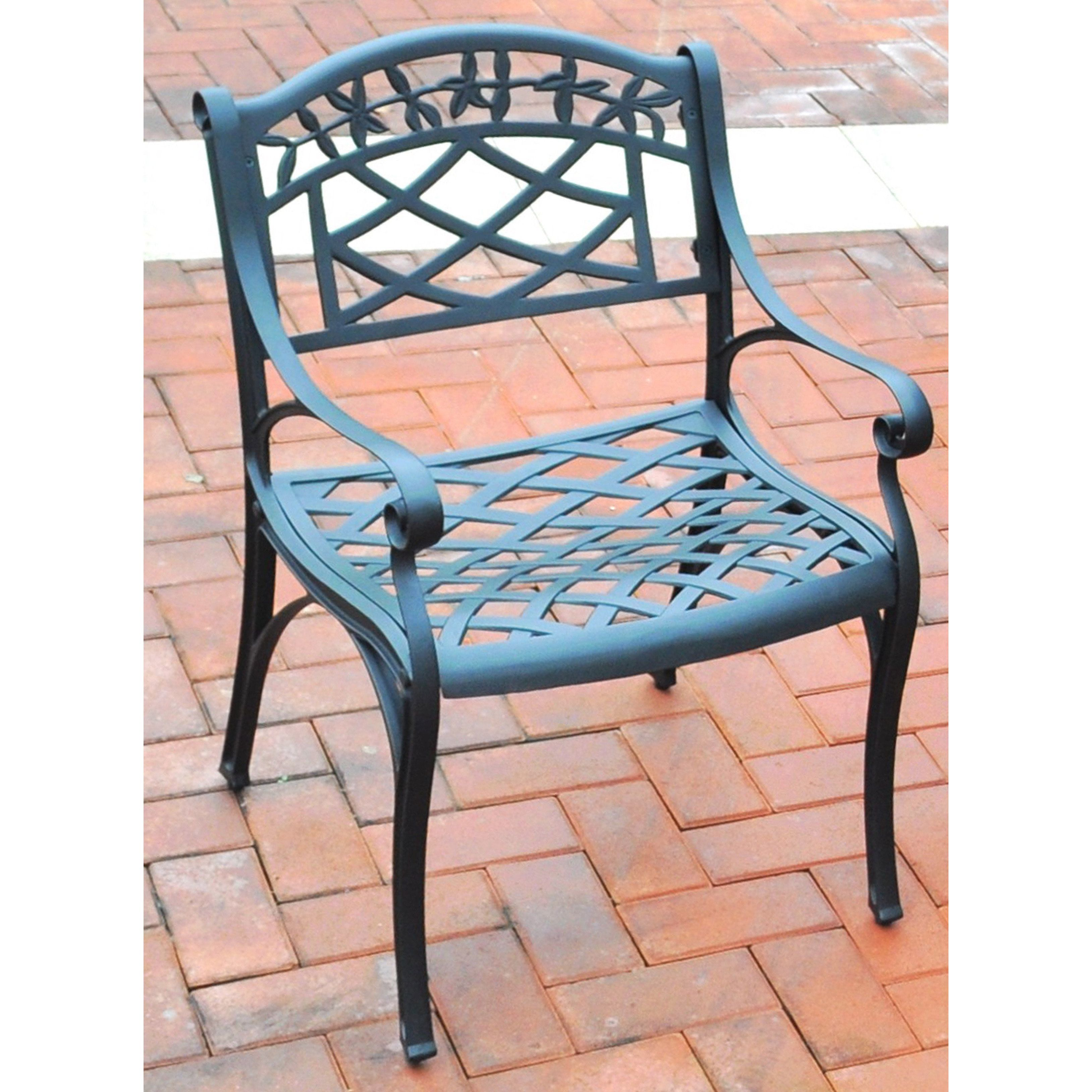 Crosley Furniture Sedona Cast Aluminum Arm Chair in Charcoal Black