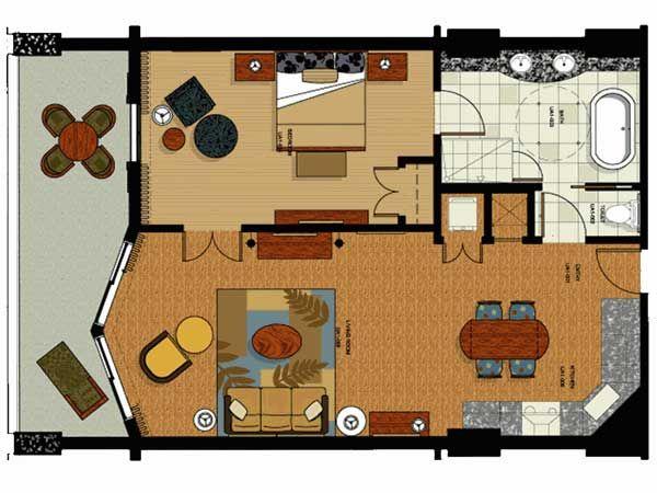 Parc Soleil Hotel By Hilton Grand Vacations In Orlando Florida Bedroom Floor Plans Orlando Hotel 3 Bedroom Floor Plan