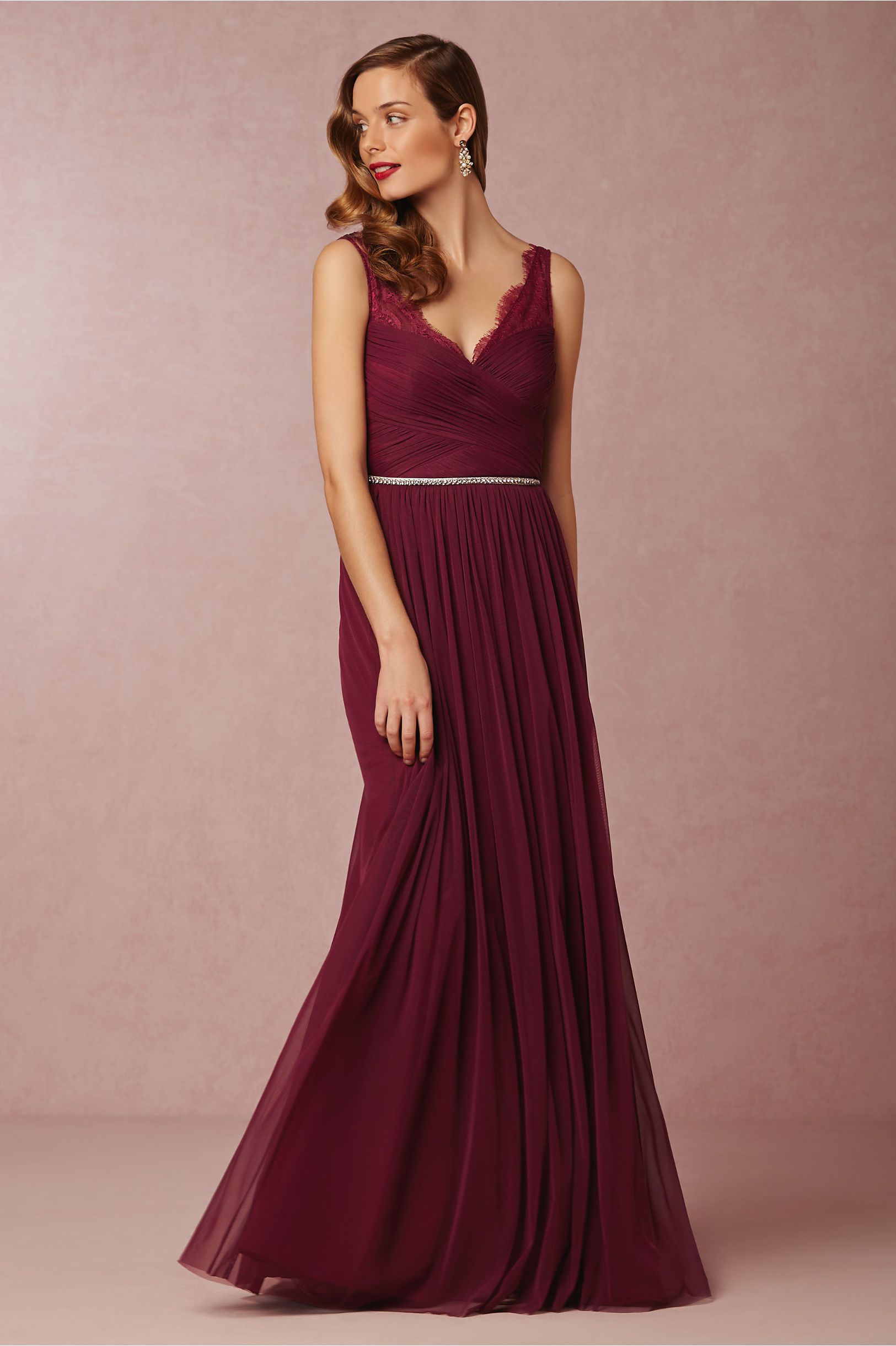 f48633713 Fleur Bridesmaids Dress in black cherry from  BHLDN