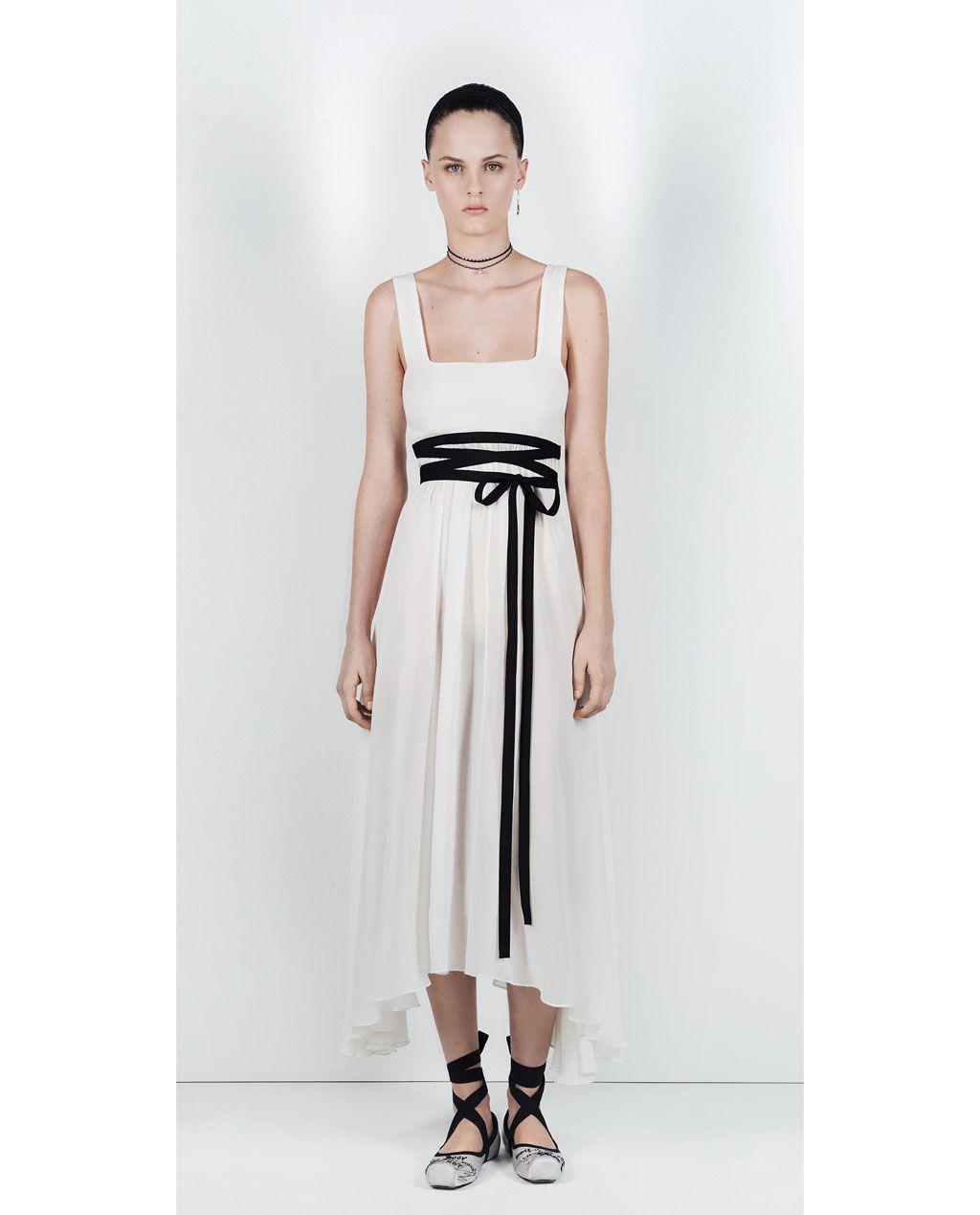 ZARA - WOMAN - STUDIO DRESS WITH SQUARE-CUT NECKLINE