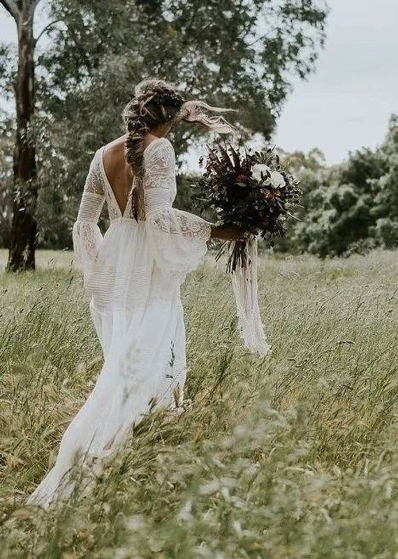LOTIS Calliste Bride, boho wedding dress, boho dress, vintage wedding dress, romantic wedding dress, bridal dress, bohemian dress