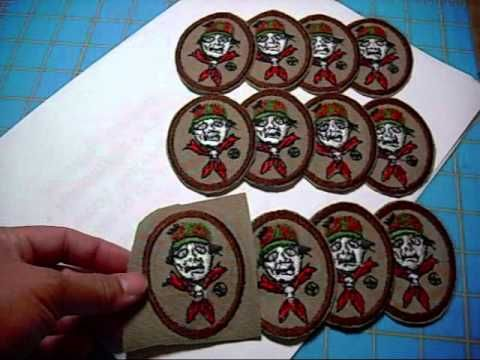 How to Finish Homemade Embroidery Patches before cutting - Zombie patches