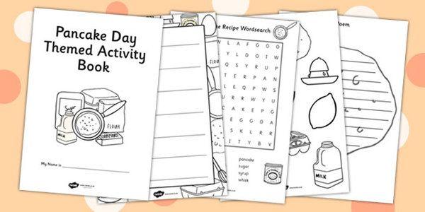 Pancake Day Themed Activity Book Pancake Day Pancake Day Crafts Book Activities