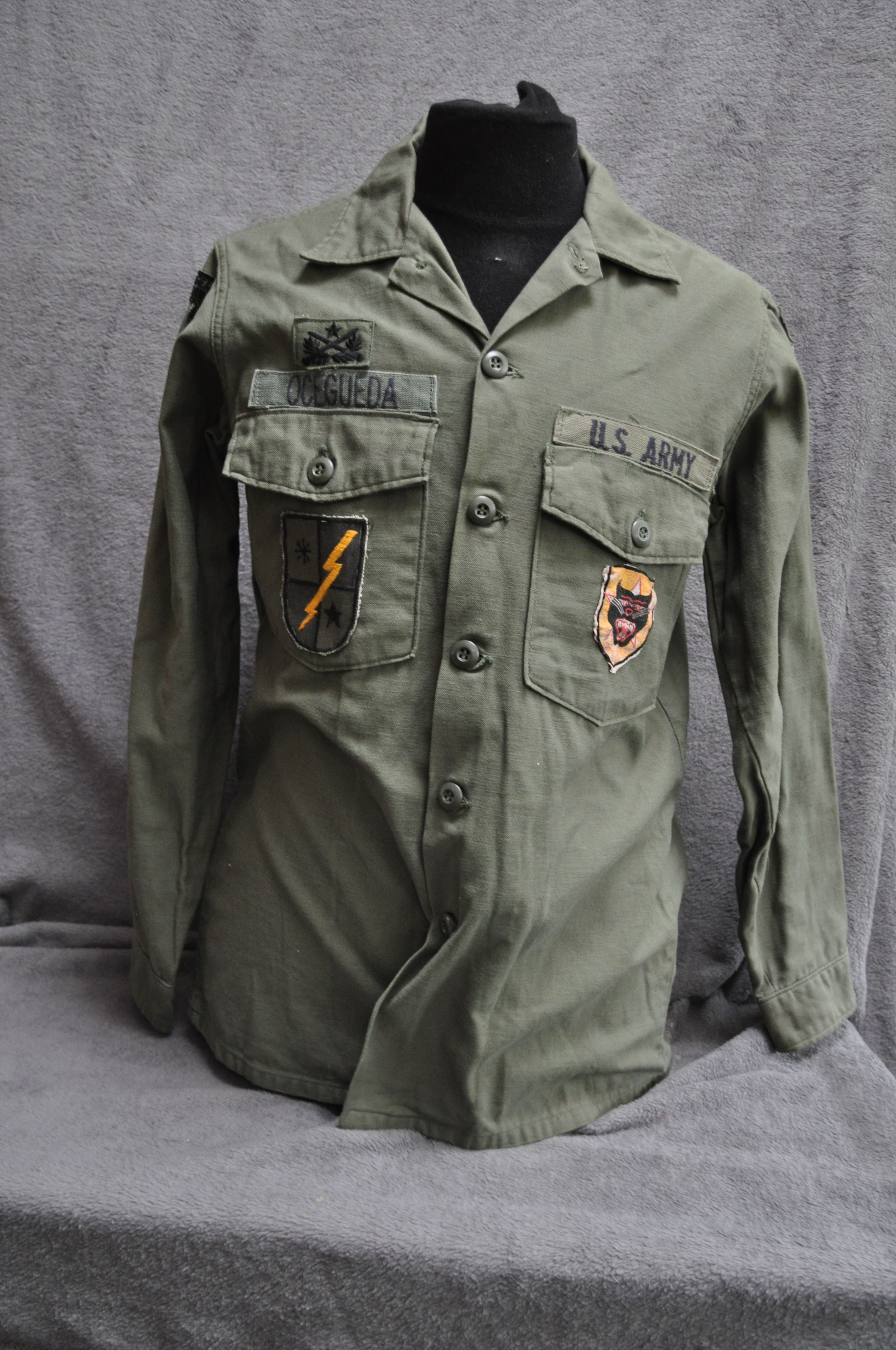 ec8bf6f5993 75th Rangers shirt with all in country made patches. US advisor ARVN rangers .