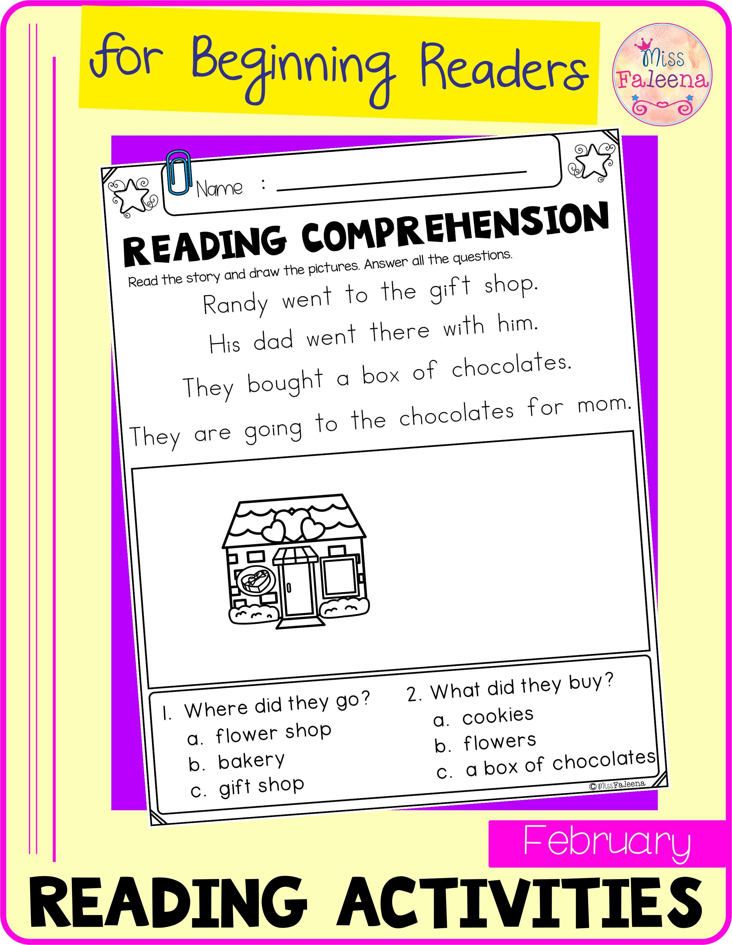 February Reading Activities For Beginning Readers
