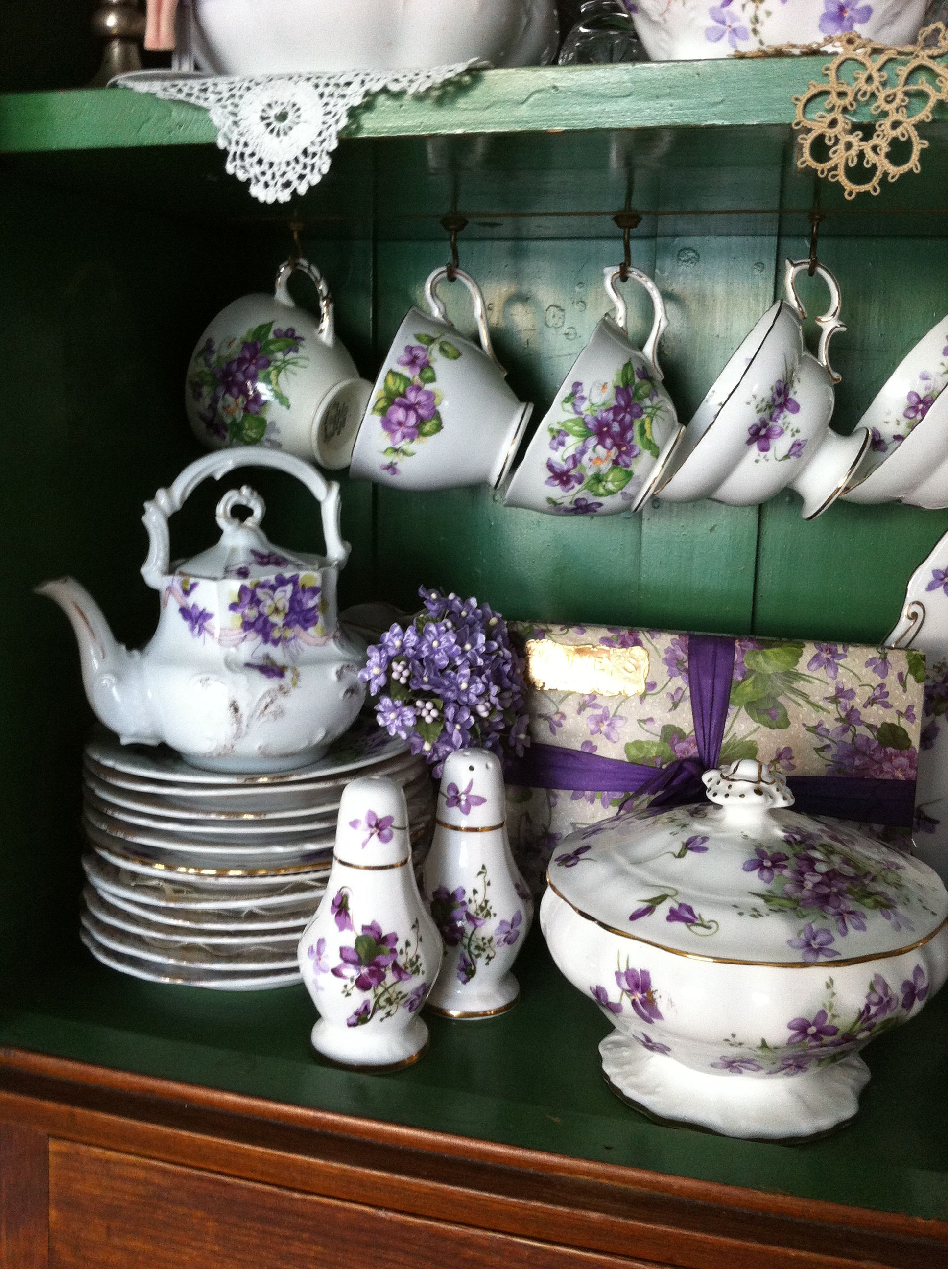 Violet China On Display