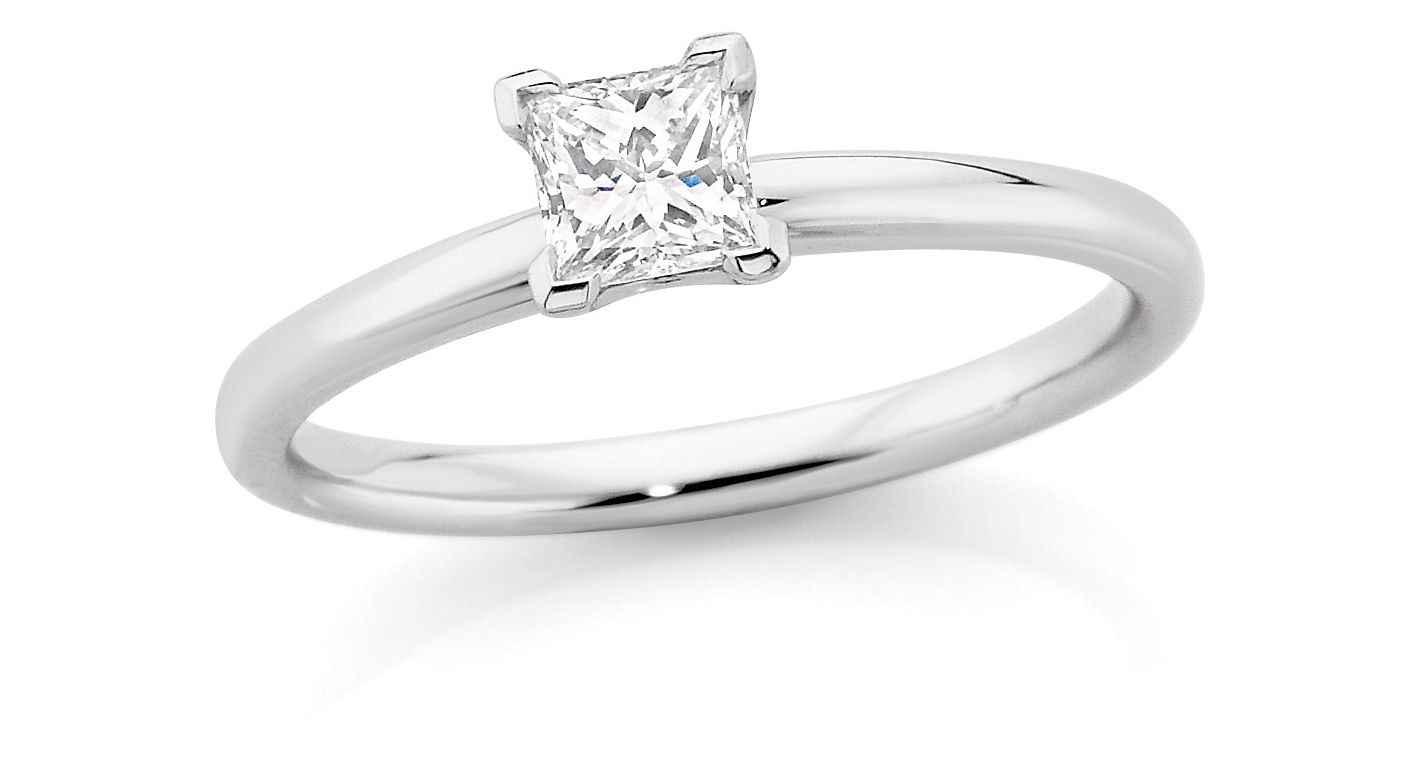 Ct princess cut candianfire diamond solitaire ring