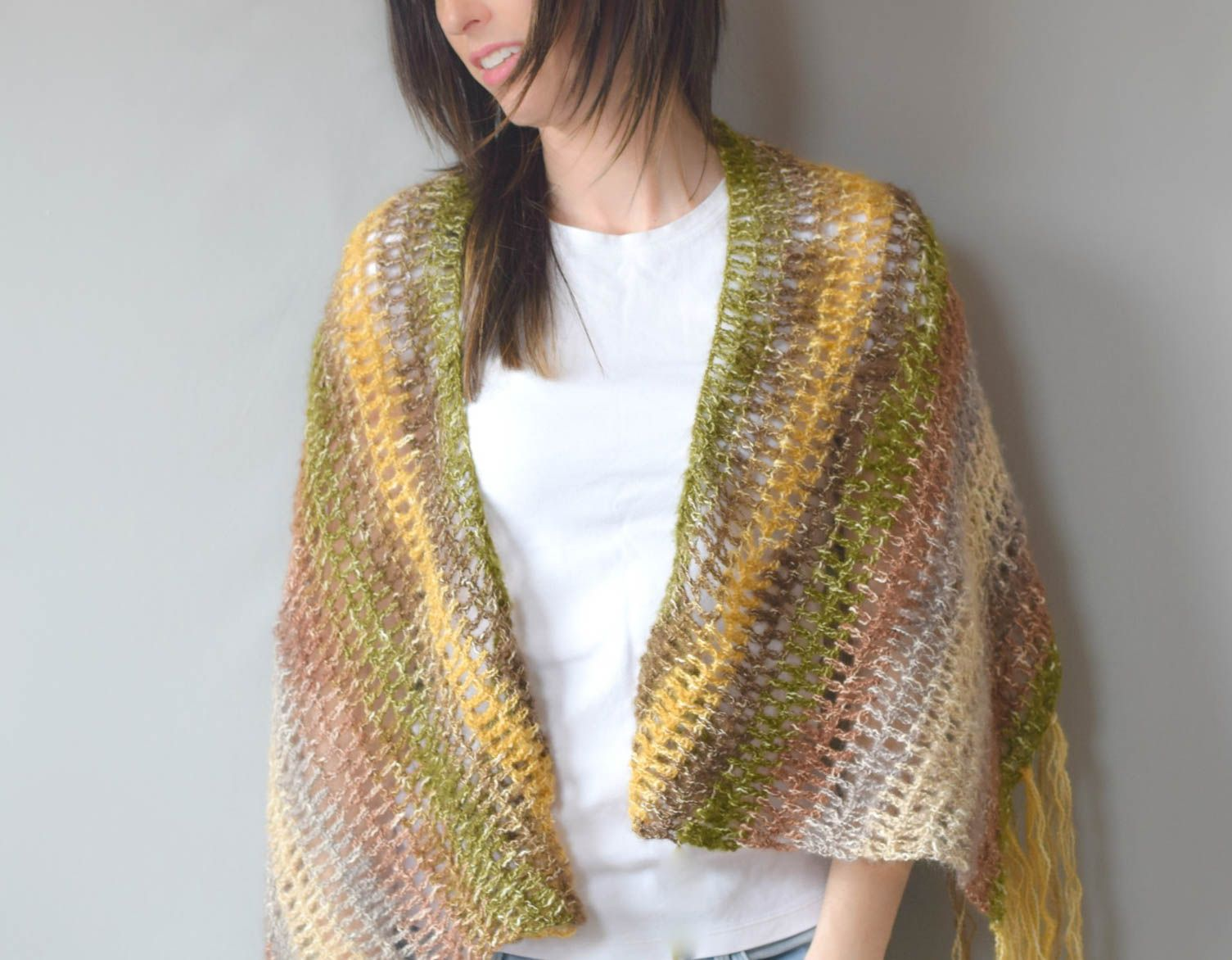 One SkeinDouble Crochet Shawl Pattern | crochet | Pinterest ...