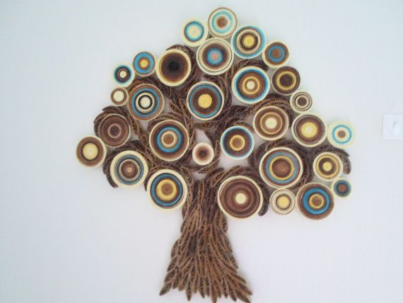 wall decoration modern wall hanging abstract paper wall art quilled tree home decor - Home Decor Wall Hangings