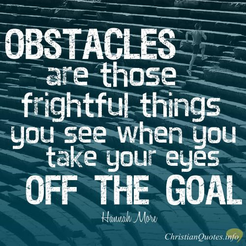 Daily Biblical Inspirational Quotes: Keeping Your Eyes On The Goal: Hannah