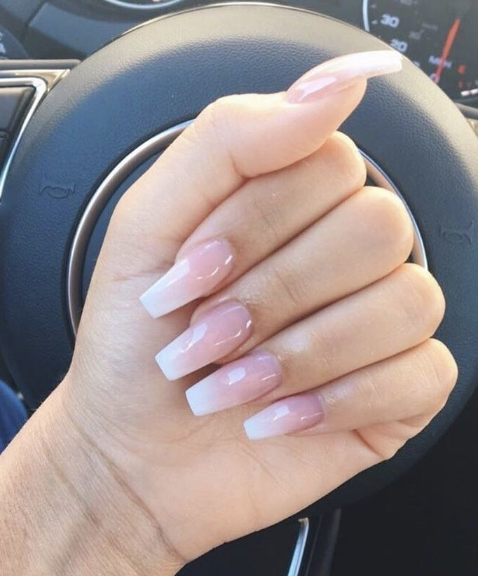 Pretty And Classic With Images Pink Ombre Nails Acrylic Nails Coffin Pink Acrylic Nails Coffin