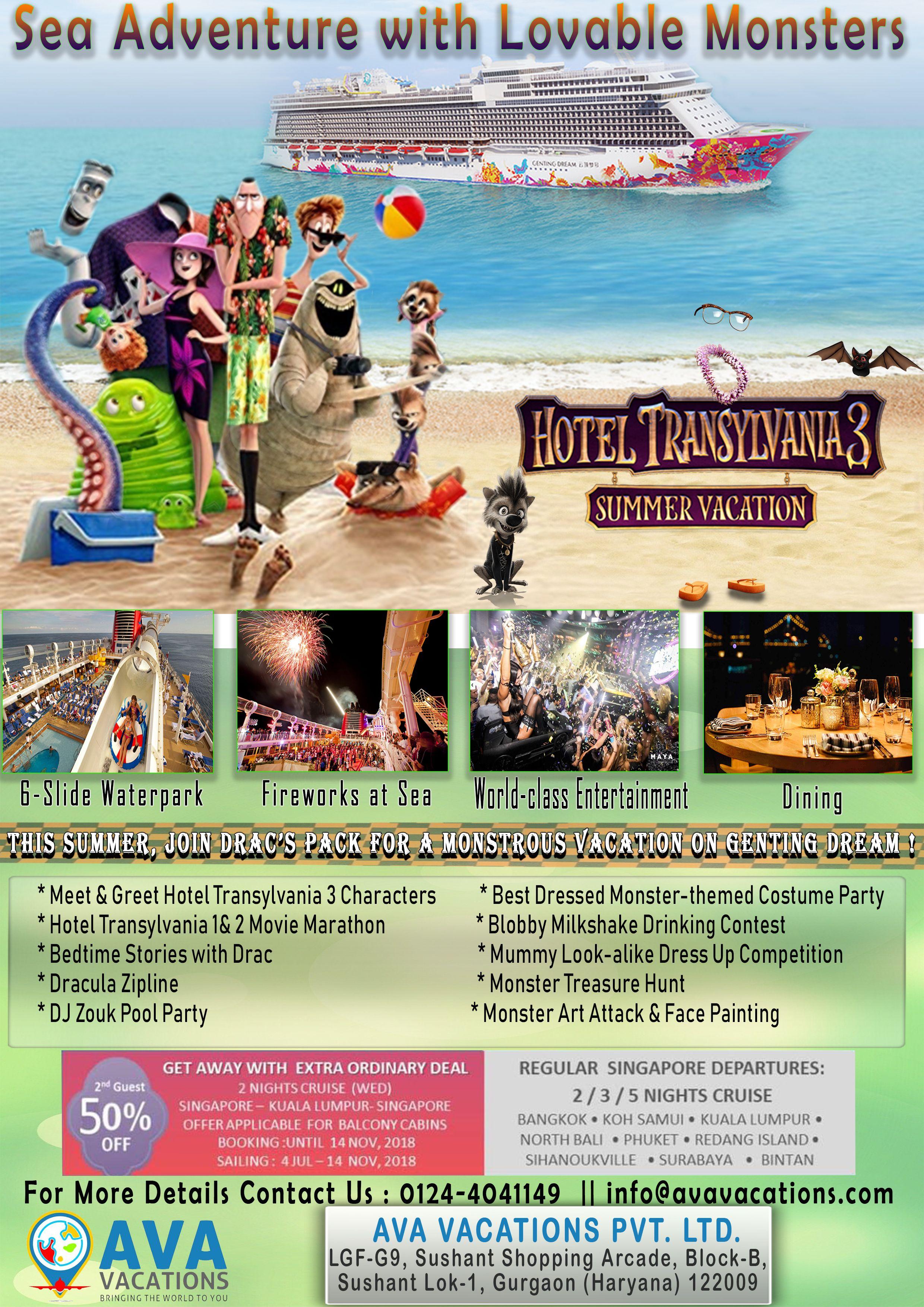 Hotel Transylvania 3 Summer Vacation Cruises Ava Vacations Pvt Ltd