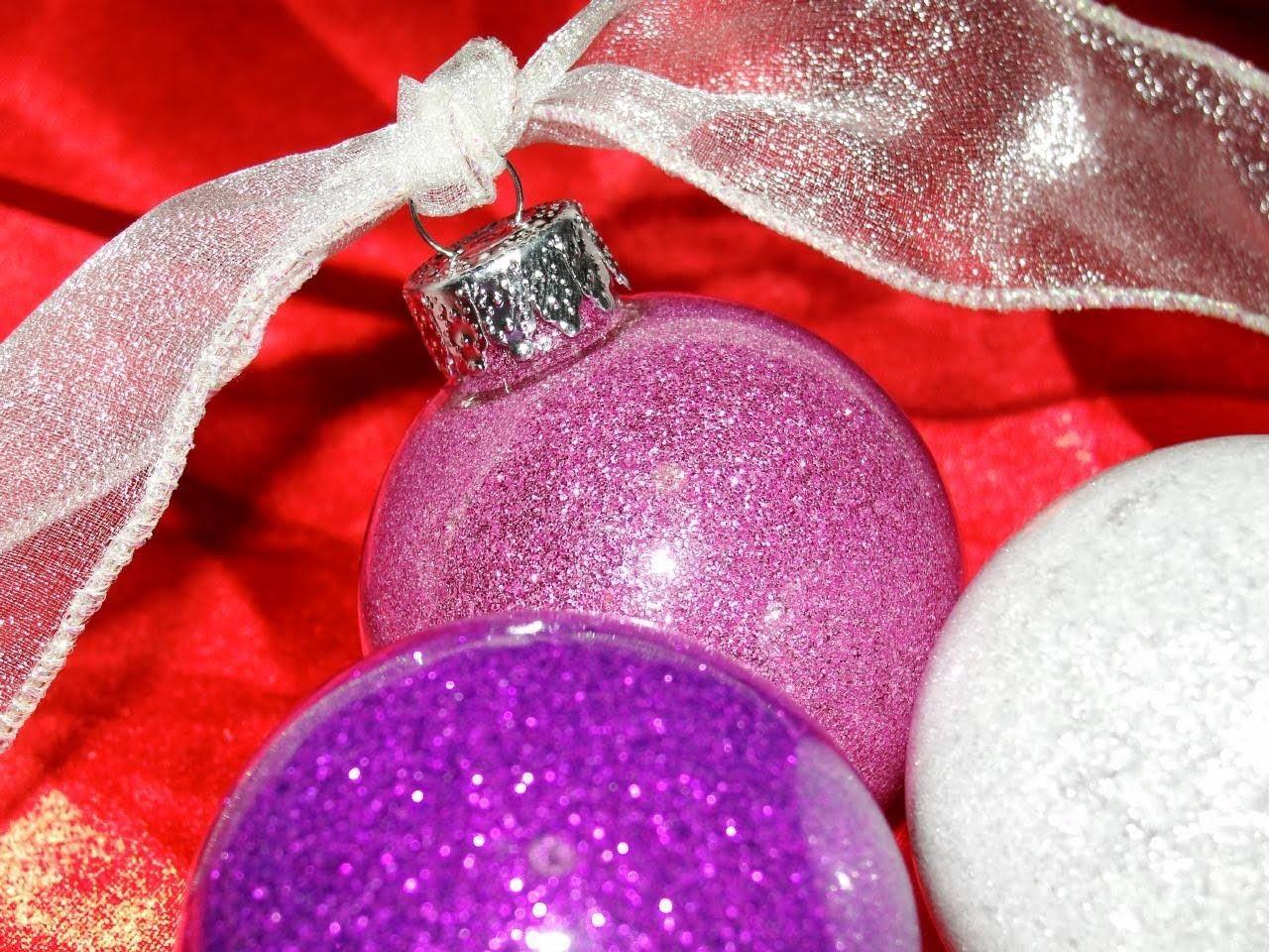 Ornaments made with mop n glow floor polish and super fine glitter ornaments made with mop n glow floor polish and super fine glitter the designer had solutioingenieria Gallery