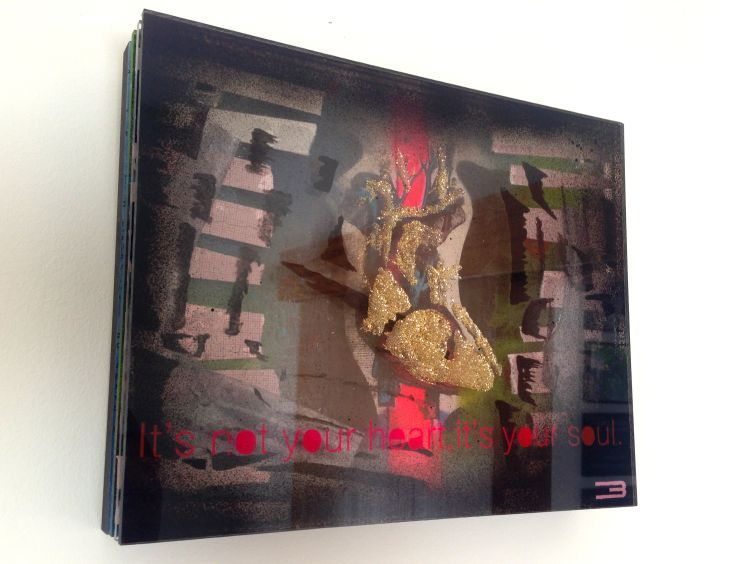 ARTFINDER: Secret Heart (on exhibition unavailab... by Eduardo Bessa - Secret Heart   Plexiglass plates glued to wood board.