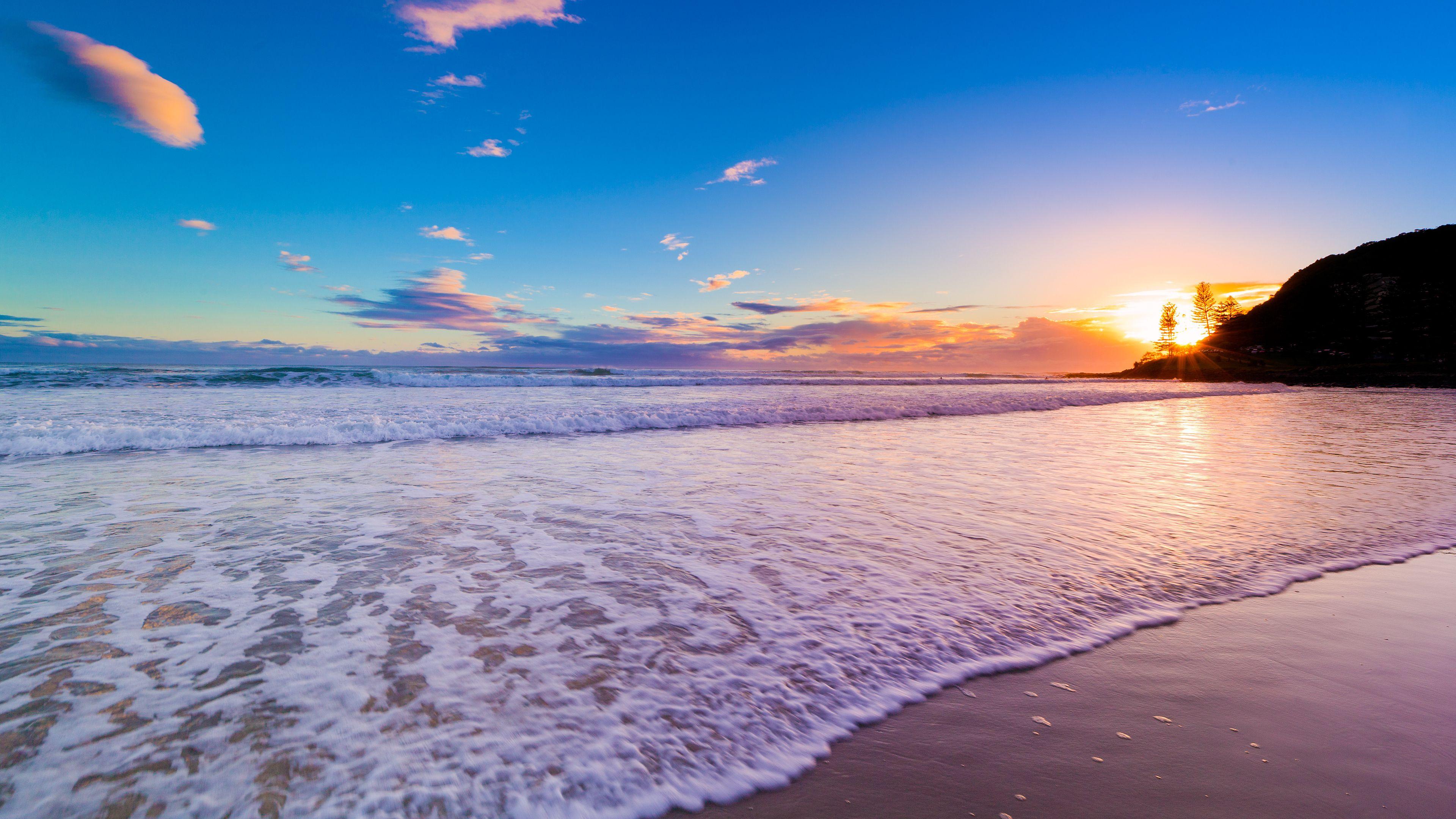 Gold Coast Australia Beach Sunset Wallpaper