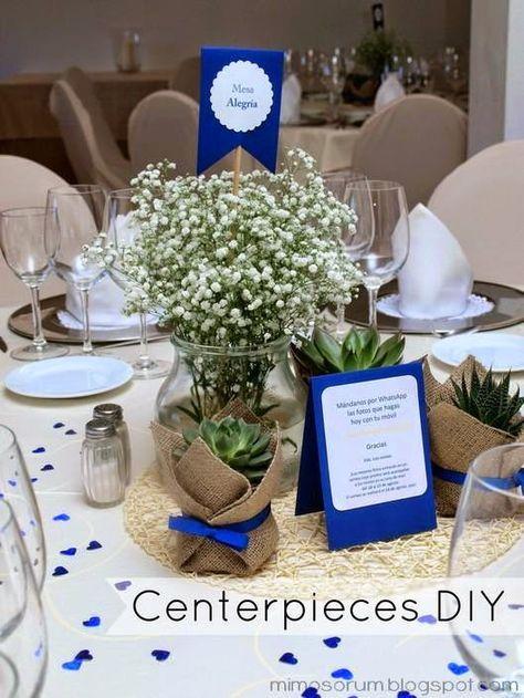 Centros de mesa con plantas naturales centerpieces diy decoraci n boda pinterest mesas - Centros de mesa caseros ...