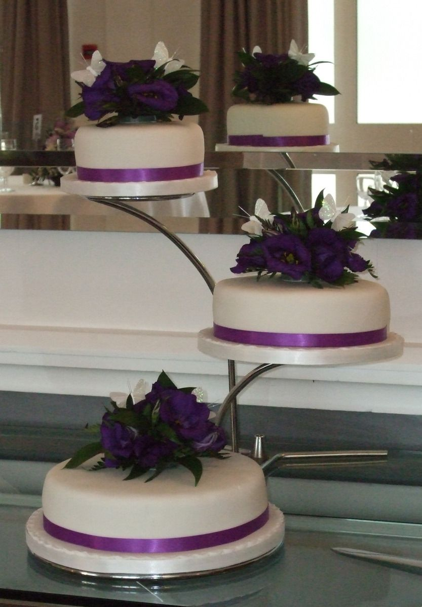 Cascade tier cake with fresh flowers reception ideas pinterest
