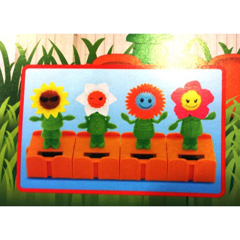 63c1ffb85df182 Cute Face Solar Powered Never Ending Dancing Flip Flop Sunflower Plant Pot  Swing Collection (4 Pcs)