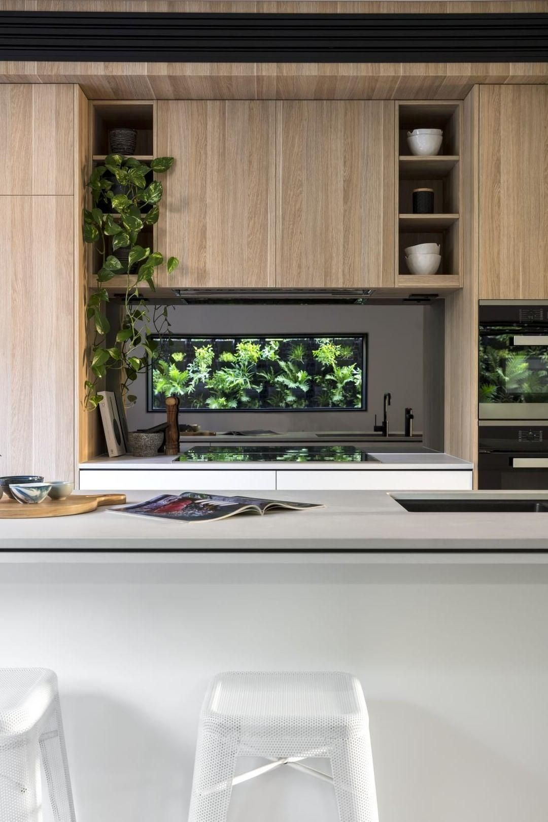 Caesarstone Benchtop Colourpyne Barvarian Oak Cabinetry By T M