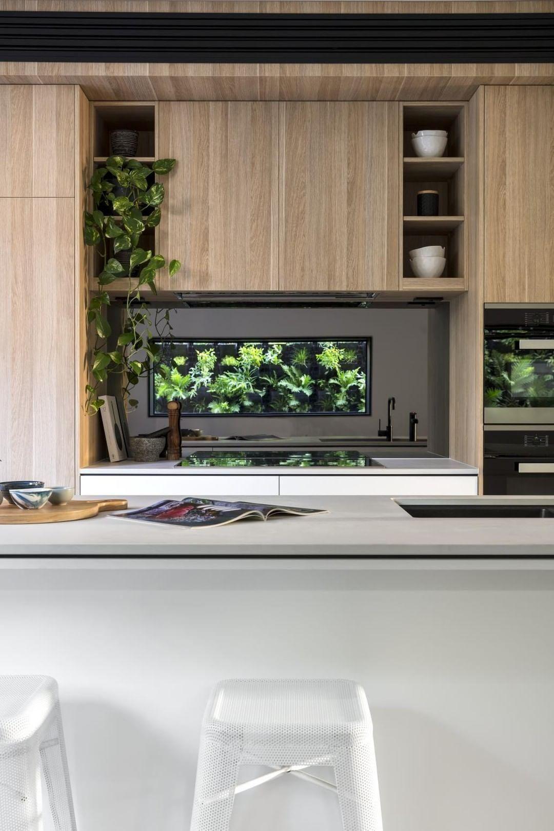 Best Caesarstone Benchtop Colourpyne Barvarian Oak Cabinetry 640 x 480