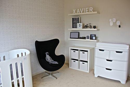 Egg Chair Contemporary Nursery White Nursery Black White Nursery Kids Room Inspiration