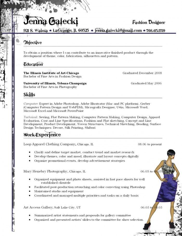 Fashion Resume Fashion Designer Resume Fashion Resume Resume Design