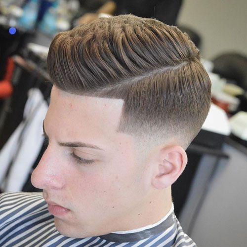 Low Skin Fade With Shape Up And Thick Spiky Hair Fade Haircut Hair Styles Side Part Hairstyles