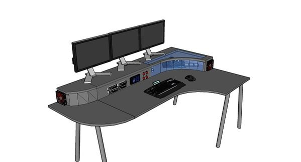 Project kapros ikea galant pc desk mod chief engineer stuff