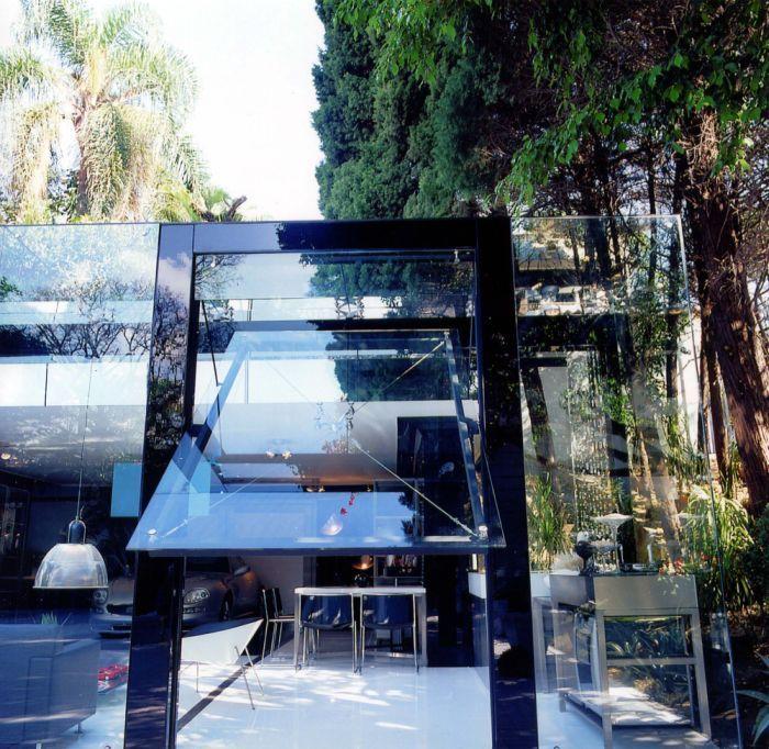 Solid Glass Garage Door #luxury #homes #house #design