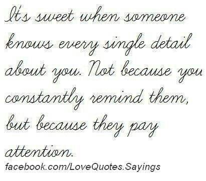 Its sweet when someone...