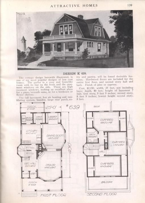 Attractive Homes Colonial House Plans Colonial House Vintage House Plans