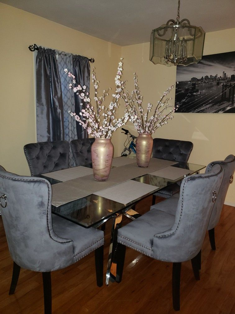 Nice Dining Room Glass Table Home Decor Decor Room Remodeling