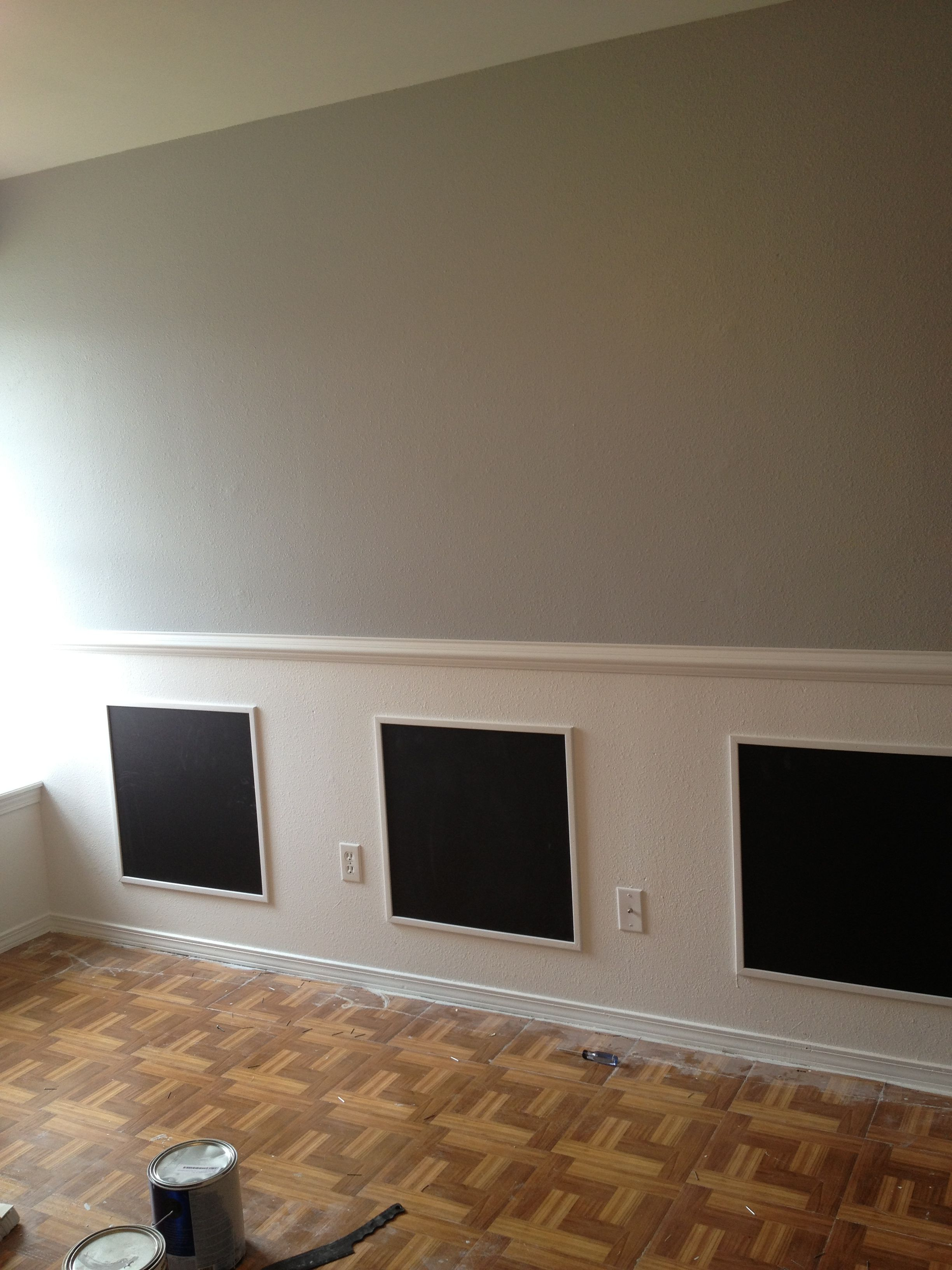Chalkboard Molding For Toddler S Room Supplies Needed White Paint Nails Chair Rail