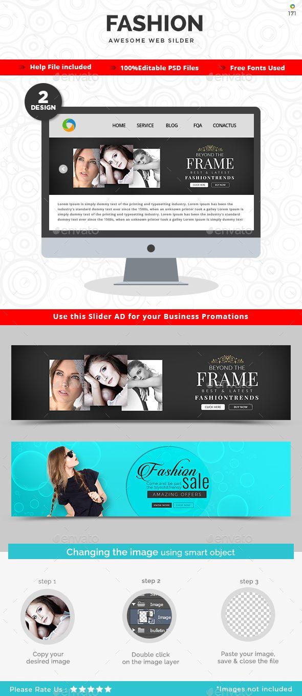 Fashion Slider Templates - 2 Designs | Pinterest | Template, Font ...