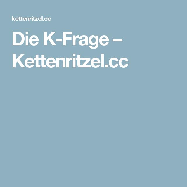 Die K-Frage – Kettenritzel.cc