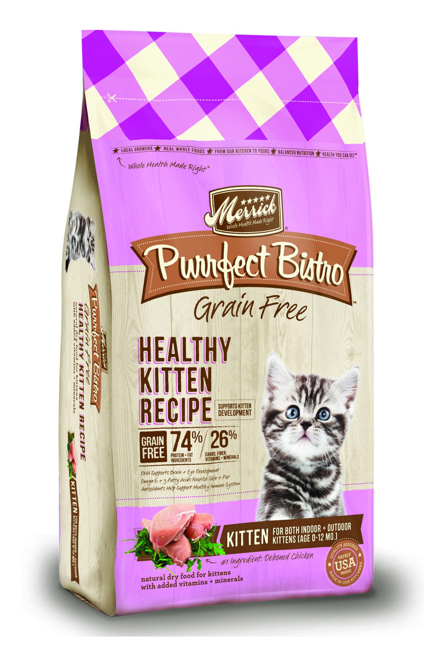 Purrfect Bistro Grain Free Healthy Kitten Recipe Merrick Pet