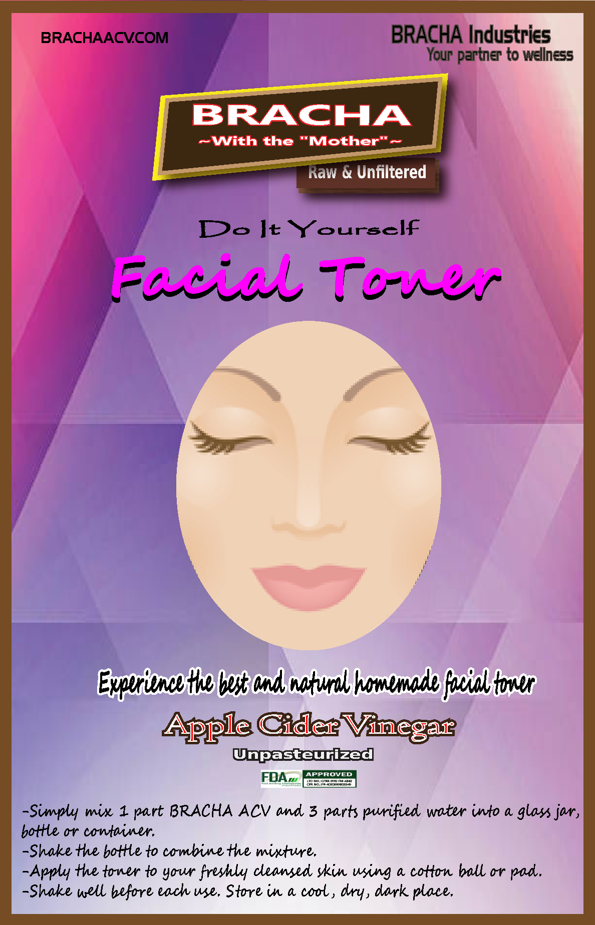 Do it yourself and experience the best and natural homemade facial do it yourself and experience the best and natural homemade facial toner with bracha apple cider solutioingenieria Images