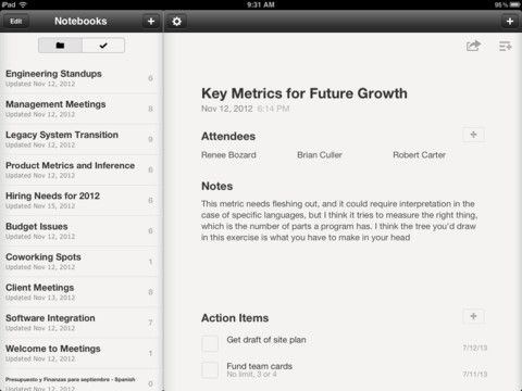 iPad Screenshot 1 Meeting notes, Legacy system, Work meeting