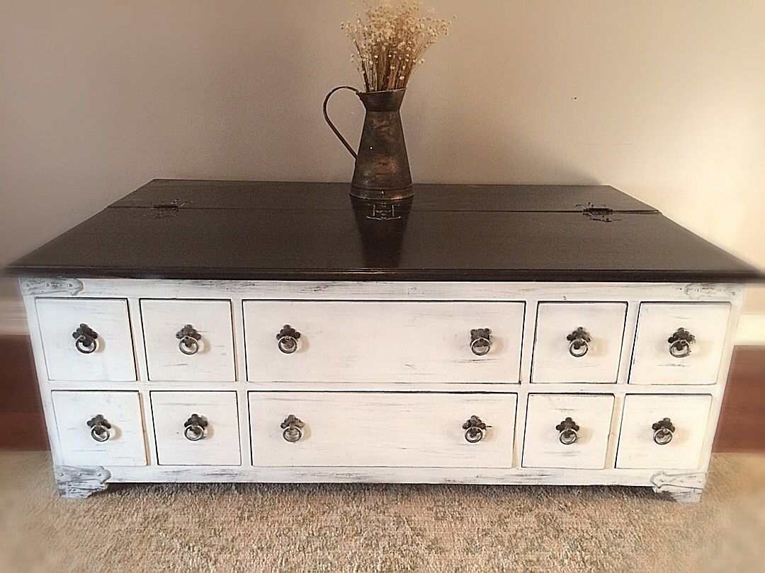 Vintage/Rustic /Farmhouse /cottage/ StorAge Coffee Table / Rustic Storage  Bench