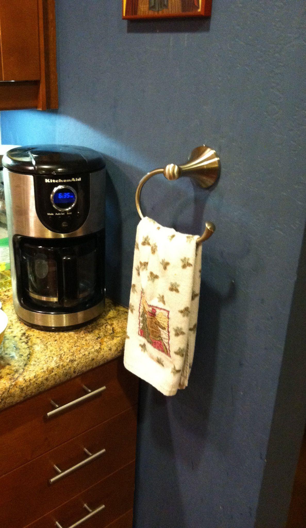 Towel hook in kitchen!!