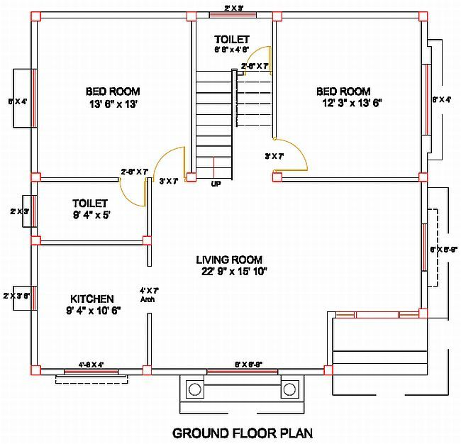 Column Layout For A Residence Civil Engineering Modern House Floor Plans Building Design Modern House Design
