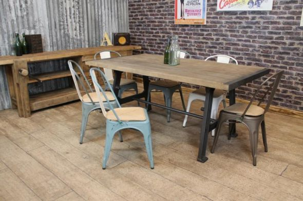 Vintage Industrial Style Dining Furniture (590×392)