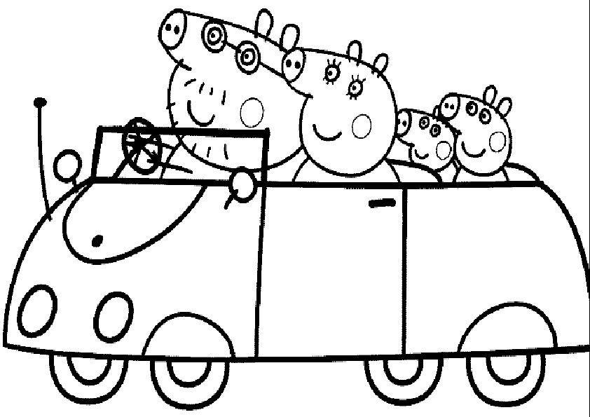 Ausmalbilder Peppa Pig Zum Ausdrucken Auto Ausmalbilder Peppa Pig Zum Ausdrucken Auto P In 2020 Peppa Pig Coloring Pages Peppa Pig Colouring Family Coloring Pages