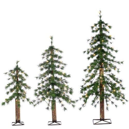 Sterling Tree Company Alpine Hard Needle Pre-lit Christmas Tree