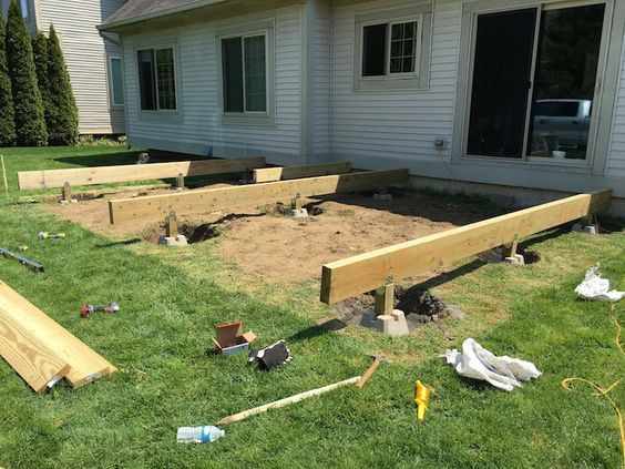 How To Build A Floating Deck With Images Plans