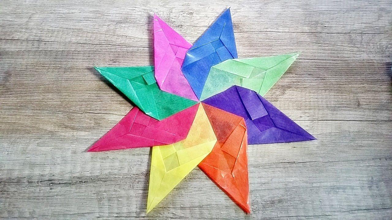 Basteln Origami Stern Aus Transparentpapier Selber Machen