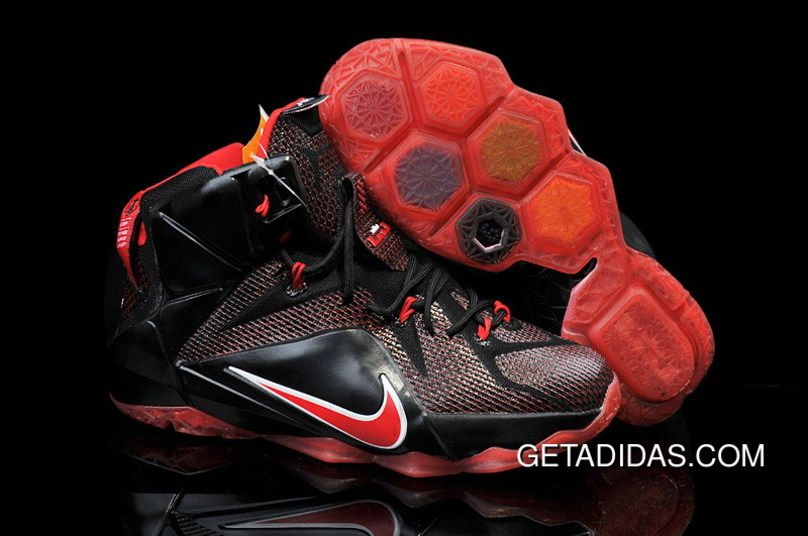 Originals Nike Lebron 12 Black Red White